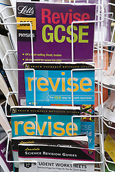 Display of GCSE revision books,