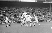 A group of players challenge for the ball during the All Ireland Senior Gaelic Football Championship Final Cork v Galway in Croke Park on the 23rd September 1973. Cork 3-17 Galway 2-13.