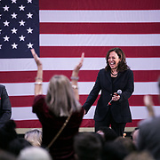 COLUMBIA SC - FEBRUARY 16: California Senator Kamala Harris speaks to a large crowd at a town hall inside The Brookland Health and Wellness Center in Columbia, SC on February 16, 2019. (Logan Cyrus for The Los Angeles Times)