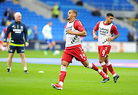 Middlesbrough's Lee Peltier during the pre-match warm-up <br /> <br /> Photographer Ian Cook/CameraSport<br /> <br /> The EFL Sky Bet Championship - Cardiff City v Middlesbrough - Saturday 23rd October 2021 - Cardiff City Stadium - Cardiff<br /> <br /> World Copyright © 2020 CameraSport. All rights reserved. 43 Linden Ave. Countesthorpe. Leicester. England. LE8 5PG - Tel: +44 (0) 116 277 4147 - admin@camerasport.com - www.camerasport.com