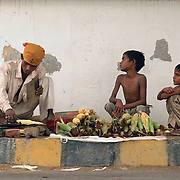 Bhuta (Maze) vendor outside gurudwara Damdama Sahib, Nizamuddin east New Delhi