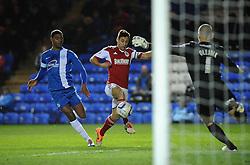 Bristol City's goalscorer, Sam Baldock takes a shot at goal. - Photo mandatory by-line: Dougie Allward/JMP - Mobile: 07966 386802 11/03/2014 - SPORT - FOOTBALL - Peterborough - London Road Stadium - Peterborough United v Bristol City - Sky Bet League One
