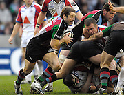 Twickenham, GREAT BRITAIN, Andy GOMASALL, attacks from the back of the scrum, during the Guinness Premieship match, NEC Harlequins vs Bristol Rugby, at the Twickenham Stoop Stadium, England, on Sat 24.02.2007  [Photo, Peter Spurrier/Intersport-images].....
