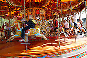 Merry go Round, traditional fair ground ride, South Bank, London, England