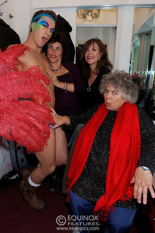 London, United Kingdom - 2 September 2009.Comedienne Ruby Wax and actresses Belinda Lang and Miriam Margolyes performing at gay bar the Royal Vauxhall Tavern, Vauxhall, London, England, UK on 2 September 2009..(photo by: EDWARD HIRST/EQUINOXFEATURES.COM).Picture Data:.Photographer: EDWARD HIRST.Copyright: ©2009 Equinox Licensing Ltd. +448700 780000.Contact: Equinox Features.Date Taken: 20090902.Time Taken: 215253+0000.www.newspics.com