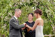Garden wedding wedding  in Nethybridge. Reception at the Boat of Garten town hall.