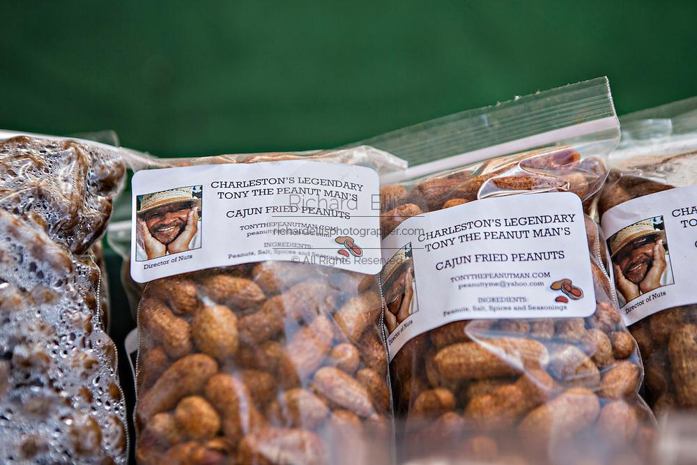 Boiled peanuts at the Historic Charleston City Market on Market Street in Charleston, SC.