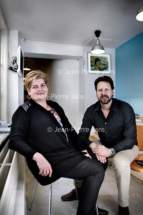 Nederland, Amsterdam , 11 maart 2015.<br /> Foto van huisarts Roger Ritz en praktijkmanager Eveline Brand voor artikel over praktijkmanagement in De Dokter 1503.<br /> <br /> Foto:Jean-Pierre Jans