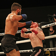 FORT LAUDERDALE, FL - FEBRUARY 15: Jim Alers (L) fights Kaleb Harris during the Bare Knuckle Fighting Championships at Greater Fort Lauderdale Convention Center on February 15, 2020 in Fort Lauderdale, Florida. (Photo by Alex Menendez/Getty Images) *** Local Caption *** Jim Alers; Kaleb Harris