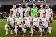 England team prior to the International Friendly match between England Women and Australia at Craven Cottage, London, England on 9 October 2018.