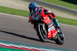 May 13, 2018 - Imola, BO, Italy - Marco Melandri of Aruba.it Racing - Ducati during the race 2 of the Motul FIM Superbike Championship, Italian Round, at International Circuit ''Enzo and Dino Ferrari'', on May 13, 2018 in Imola, Italy  (Credit Image: © Danilo Di Giovanni/NurPhoto via ZUMA Press)