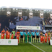 Istanbul Basaksehir's and Fenerbahce's players during their Turkish Super League soccer match Istanbul Basaksehir between Fenerbahce at the Basaksehir Fatih Terim Arena at Basaksehir in Istanbul Turkey on Monday, 25 May 2015. Photo by Aykut AKICI/TURKPIX
