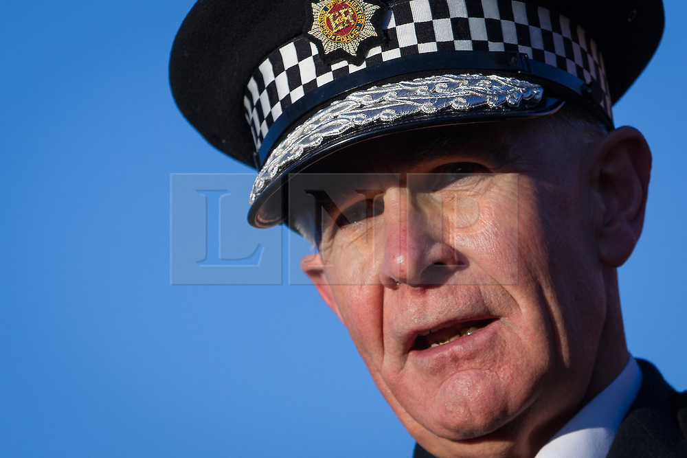 """© Licensed to London News Pictures . FILE PICTURE DATED 13/12/2012 of Greater Manchester Police's Chief Constable SIR PETER FAHY who has today (12th March 2013) said that the """"failings identified in the Jimmy Saville case could happen all over again"""" and that """"fundamental, underlying issues"""" about similar serial sex offenders were not being addressed . Photo credit : Joel Goodman/LNP"""