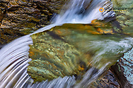 Cascades in Baring Creek in Glacier National Park, USA