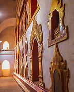 Buddha alcoves inside the massive Ananda Paya, Bagan