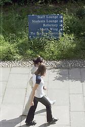 Students on campus Surrey College UK