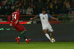 November 14, 2017 - Leiria, Leiria, Portugal - United States of America defender Eric Lichaj (R) and Portugal defender Ricardo Ferreira (L) during the match between Portugal and United States of America International Friendly at Estadio Municipal de Leiria, on November 14, 2017 in Leiria, Portugal. (Credit Image: © Dpi/NurPhoto via ZUMA Press)