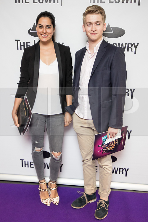 © Licensed to London News Pictures . 30/08/2017 . Salford , UK . Amrit Maghera and Richard Linnell . Purple carpet photos of celebrities, actors and invited guests arriving for the press night of the musical comedy , Addams Family , at the Lowry Theatre . Photo credit : Joel Goodman/LNP