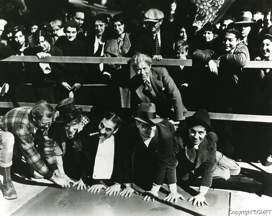 1933 Marx's Brothers hand & footprint Ceremony
