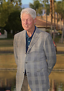 """22 JAN 15  The 42nd President of the United States, William Jefferson Clinton on the 18th green at the conclusion of Sunday""""s Final Round at The Humana Challenge at PGA West, in LaQuinta, California.(photo credit : kenneth e. dennis/kendennisphoto.com)"""