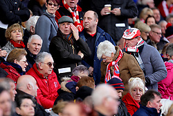 Stoke City fans gather at the stadium ahead of the funeral cortege for Gordon Banks at the bet365 Stadium, Stoke.