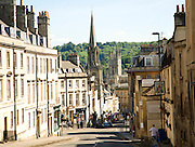 Broad Street and Lansdown Hill looking towards the city centre, Bath