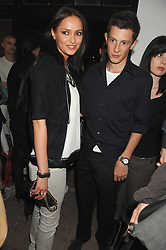 JAMES ROTHSCHILD and SASHA VOLKOVA at a party to celebrate the opening of a new art gallery, 20 Hoxton Square, Hoxton Square, London on 27th April 2007.<br />