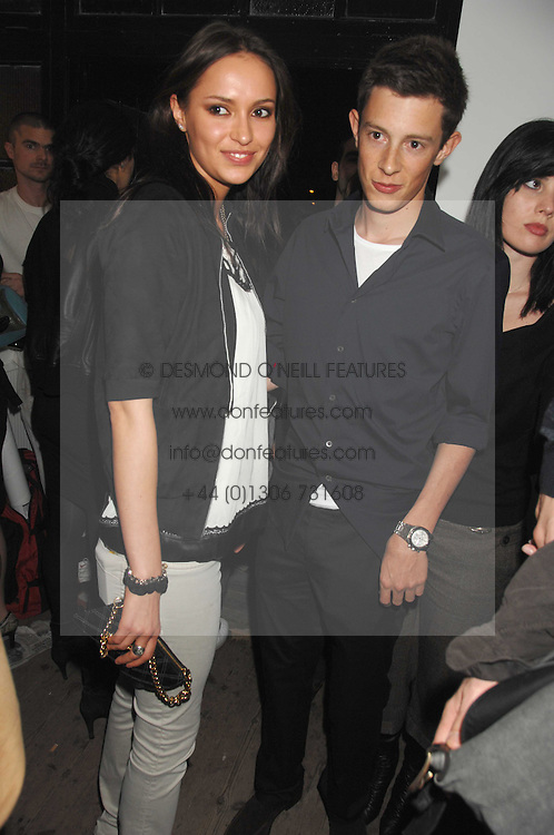 JAMES ROTHSCHILD and SASHA VOLKOVA at a party to celebrate the opening of a new art gallery, 20 Hoxton Square, Hoxton Square, London on 27th April 2007.<br /><br />NON EXCLUSIVE - WORLD RIGHTS