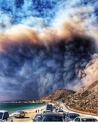 """Tamara Ecclestone releases a photo on Instagram with the following caption: """"Praying for Malibu and everyone affected it\u2019s one of my favourite places in the world have spent so many happy times there. Heartbroken to see these scenes \ud83d\udc94"""". Photo Credit: Instagram *** No USA Distribution *** For Editorial Use Only *** Not to be Published in Books or Photo Books ***  Please note: Fees charged by the agency are for the agency's services only, and do not, nor are they intended to, convey to the user any ownership of Copyright or License in the material. The agency does not claim any ownership including but not limited to Copyright or License in the attached material. By publishing this material you expressly agree to indemnify and to hold the agency and its directors, shareholders and employees harmless from any loss, claims, damages, demands, expenses (including legal fees), or any causes of action or allegation against the agency arising out of or connected in any way with publication of the material."""