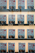 Michael Wolffe's best-selling book about Donald Trump, Fire And Fury is featured in the window of Foyles bookshop, on 17th January 2018, on the Southbank, London, England.