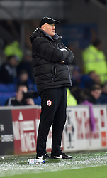 Cardiff City Manager, Russell Slade on the side line at Cardiff City Stadium - Photo mandatory by-line: Paul Knight/JMP - Mobile: 07966 386802 - 28/12/2014 - SPORT - Football - Cardiff - Cardiff City Stadium - Cardiff City v Watford - Sky Bet Championship
