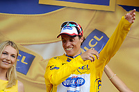 CYCLING - TOUR DE FRANCE 2010 - LES ROUSSES (FRA) - 10/07/2010 - PHOTO : TIM DE WAELE  /  DPPI - <br /> STAGE 7 - TOURNUS > STATION DES ROUSSES - SYLVAIN CHAVANEL (FRA) / QUICK STEP / WINNER AND YELLOW JERSEY