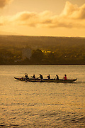 Outrigger canoe, Hilo Bay, The Big Island of Hawaii