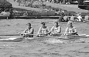 Kingston on Thames, United Kingdom.  W4+ Lea RC.   The final Round of the Leyland Daf Sprint series, at Kingston RC on the River Thames, Surrey, England, <br /> <br /> Saturday 04.05.1987<br /> <br /> [Mandatory Credit; Peter Spurrier/Intersport-images] 1987 Leyland Daf Sprints, Kingston. UK