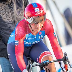 11-03-2021: Wielrennen: Healthy Ageing Tour: Lauwersoog. <br />Lisa Brennauer