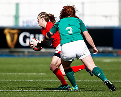 Lauren Smyth of Wales<br /> <br /> Photographer Simon King/Replay Images<br /> <br /> Six Nations Round 5 - Wales Women v Ireland Women- Sunday 17th March 2019 - Cardiff Arms Park - Cardiff<br /> <br /> World Copyright © Replay Images . All rights reserved. info@replayimages.co.uk - http://replayimages.co.uk