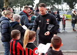 AFC Bournemouth's Marc Pugh signs autographs for fans before the FA Cup, third round match at the Vitality Stadium, Bournemouth.
