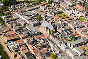Nederland, Zuid-Holland, Leerdam, 23-08-2016; stadsgezicht met Kerkstraat. Cityscape .<br /> aerial photo (additional fee required);<br /> copyright foto/photo Siebe Swart