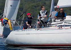 Sailing - SCOTLAND  - 25th May 2018<br /> <br /> Opening days racing the Scottish Series 2018, organised by the  Clyde Cruising Club, with racing on Loch Fyne from 25th-28th May 2018<br /> <br /> 8858, Close Encounters, Griogair Whyte, RNCYC, Sigma 33 OOD<br /> <br /> Credit : Marc Turner<br /> <br /> Event is supported by Helly Hansen, Luddon, Silvers Marine, Tunnocks, Hempel and Argyll & Bute Council along with Bowmore, The Botanist and The Botanist