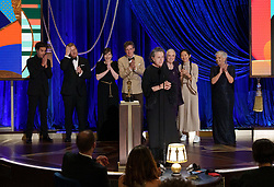 Frances McDormand accepts the Oscar® for Best Picture during the live ABC Telecast of The 93rd Oscars® at Union Station in Los Angeles, CA, USA on Sunday, April 25, 2021. Photo by Todd Wawrychuk/A.M.P.A.S. via ABACAPRESS.COM