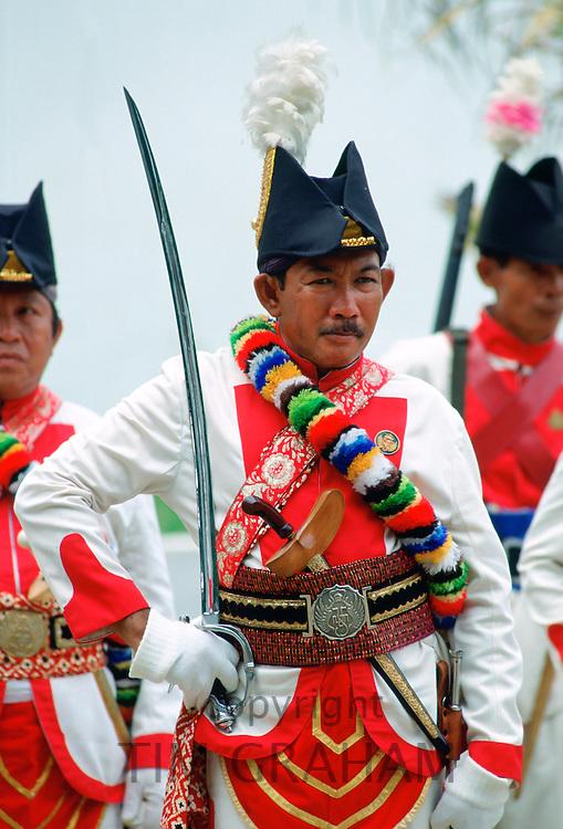 Sultan's Palace Guard at Yogya Karta, Java, Indonesia