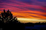A June sunset in Tavira, Portugal.