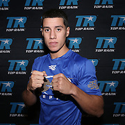 Jean Carlos Rivera prior to weigh ins for the Top Rank boxing event at Osceola Heritage Park in Kissimmee, Florida on September 21, 2016.