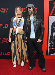 """Netflix's """"The Dirt"""" world premiere held at the Arclight Hollywood Cinerama Dome on March 18, 2019 in Hollywood, CA. © O'Connor/AFF-USA.com. 18 Mar 2019 Pictured: Sheri Moon Zombie and Rob Zombie. Photo credit: O'Connor/AFF-USA.com / MEGA TheMegaAgency.com +1 888 505 6342"""