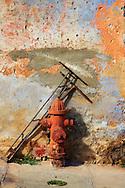 Wall and hydrant in Gibara, Holguin, Cuba.
