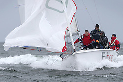 The Clyde Cruising Club's Scottish Series held on Loch Fyne by Tarbert. .Day 4 Racing with a wet Southerly to start clearing up for the last race...GBR 3111, DDZ B/one,  Luke Patience, RNCYC