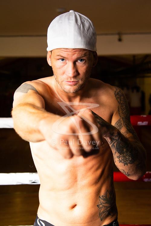 """""""Britain's Worst Boxer"""" Robin Deakin at training at a Crawley gym ahead of his bareknuckle fight at the O2.. Crawley, September 05 2018."""