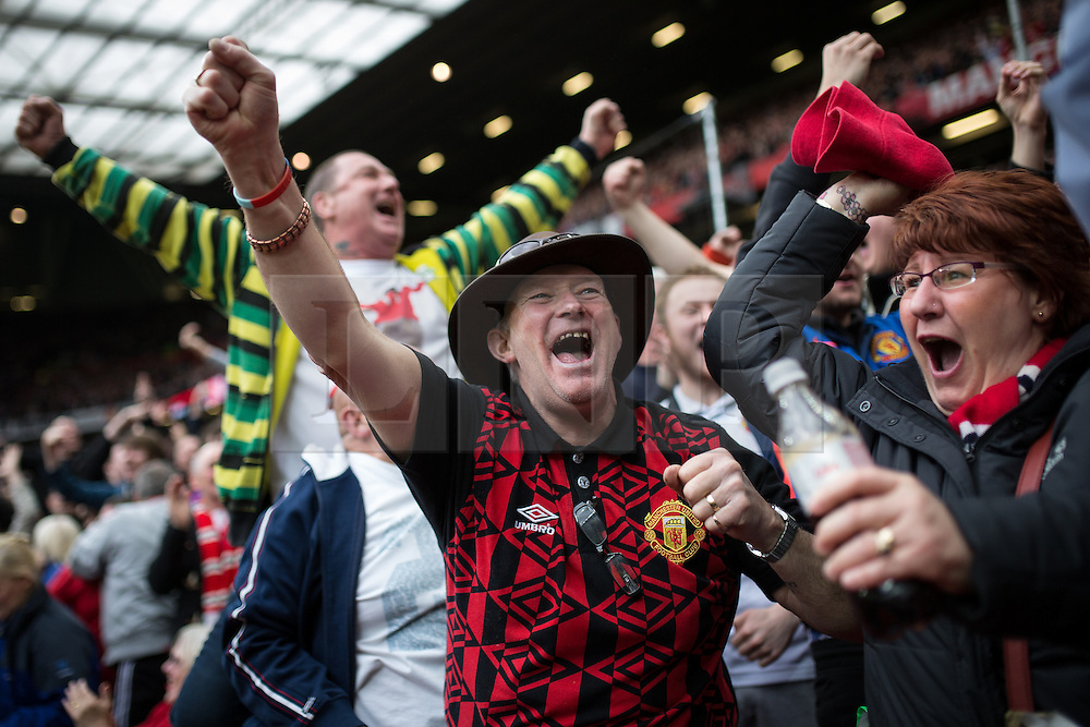 © Licensed to London News Pictures . 17/05/2015 .  Old Trafford , Manchester , UK . Mcr Utd go 1 goal ahead . 1-0 . Manchester Utd vs Arsenal at Old Trafford Football Stadium , Manchester . Photo credit : Joel Goodman/LNP