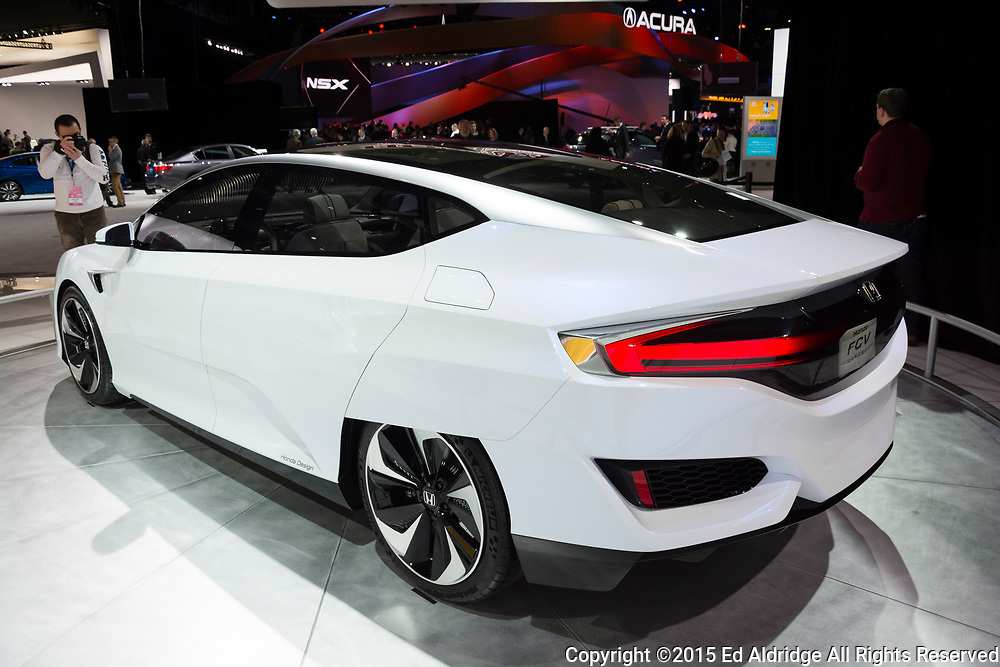 DETROIT, MI, USA - JANUARY 12, 2015: Honda FCV on display during the 2015 Detroit International Auto Show at the COBO Center in downtown Detroit.