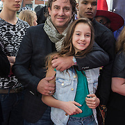 NLD/Ede/20140615 - Premiere film Heksen bestaan niet, Marco Borsato en kinderen Luca en Jada